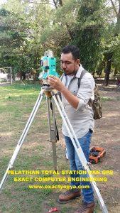 Tempat Kursus Training Pelatihan Total Station , Theodolite digital, GPS, Surveyor terbaik, termurah di Jogja, di Yogyakarta