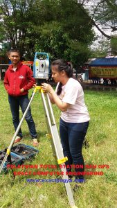 pelatihan total station Theodolite digital GPS Yogyakarta 2