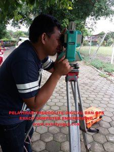 pelatihan total station Theodolite digital GPS Yogyakarta